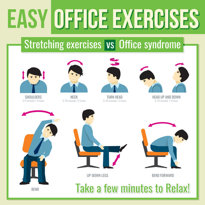 easy office exercises